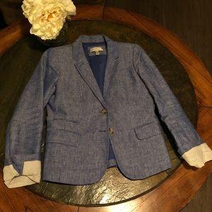 J. Crew Ladies Linen Schoolboy Blazer